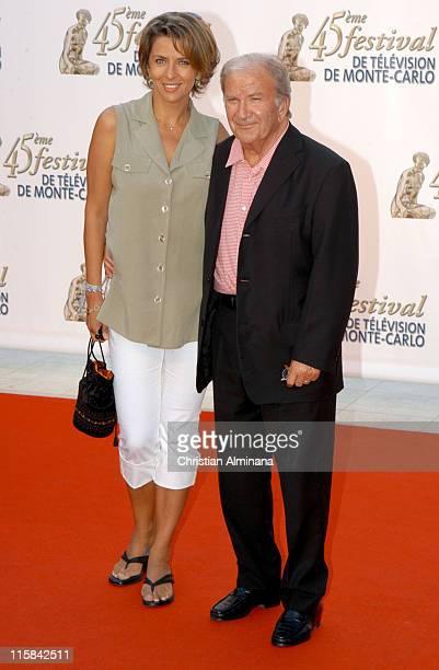 Corinne Touzet and Pierre Mondy during 45th Monte Carlo Television Festival TF1 Cocktail Arrivals at Grimaldi Forum in Monte Carlo Monaco