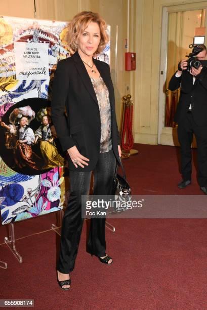 Corinne Touzet attends 'Gala D'Enfance Majuscule 2017' Charity Gala At Salle Gaveau on March 20 2017 in Paris France