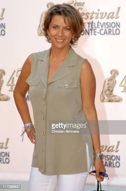 Corinne Touzet during 45th Monte Carlo Television Festival TF1 Cocktail Arrivals at Grimaldi Forum in Monte Carlo Monaco