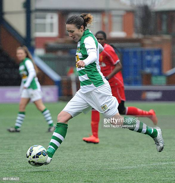 Corinne Yorston of Yeovil Town Ladies in action during the preseason friendly between Liverpool Ladies and Yeovil Town Ladies at Select Security...