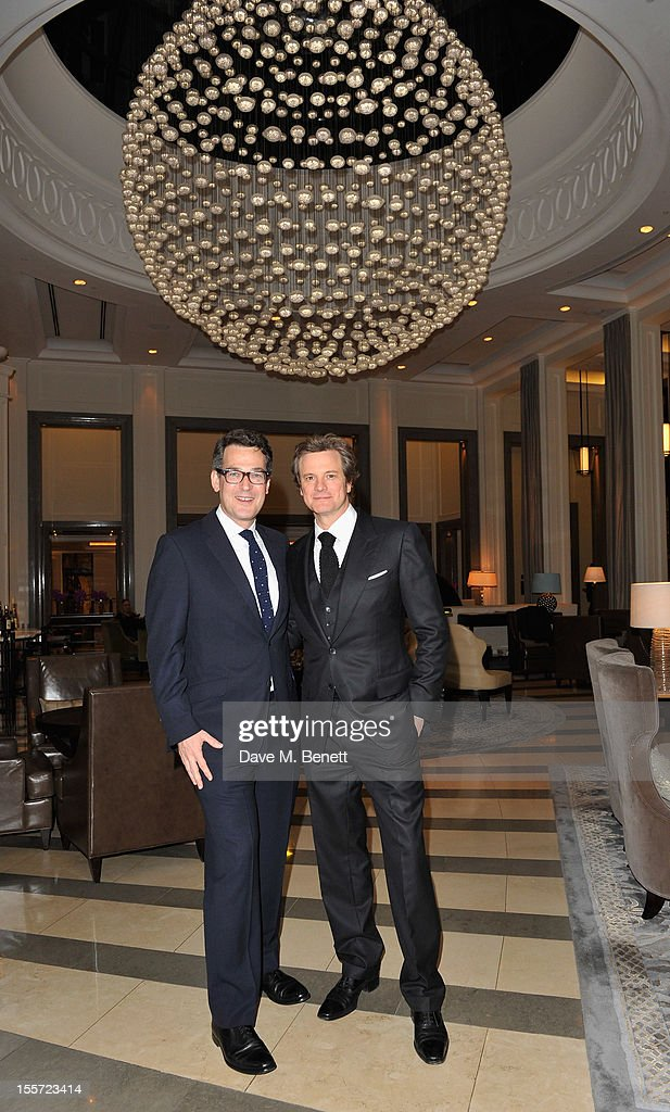 Corinthia Hotel General Manager Matthew Dixon and Colin Firth attends an after party following the World Premiere of 'Gambit' at Massimo Restaurant...