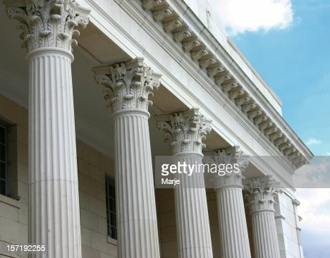 Corinthian Columns on sunny day