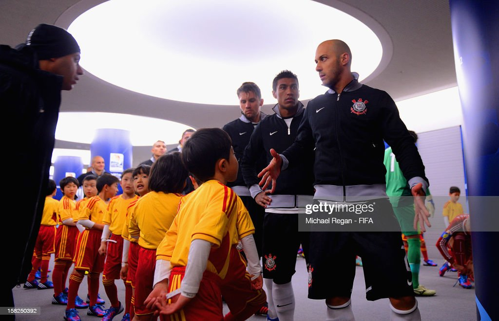Corinthians captain Alessandro waits to lead his team out in the tunnel before the FIFA Club World Cup Semi Final match between Al-Ahly SC and Corinthians at Toyota Stadium on December 12, 2012 in Toyota, Japan.