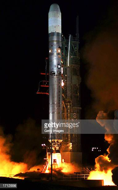Coriolis satellite is launched into space onboard a Titan II rocket January 6 2003 from Vandenberg Air Force Base in California Two weather...