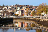 St Patrick's Quay on the north channel of river Lee. Cork City, Ireland