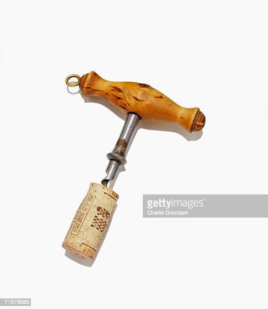 A cork in a cork-screw.