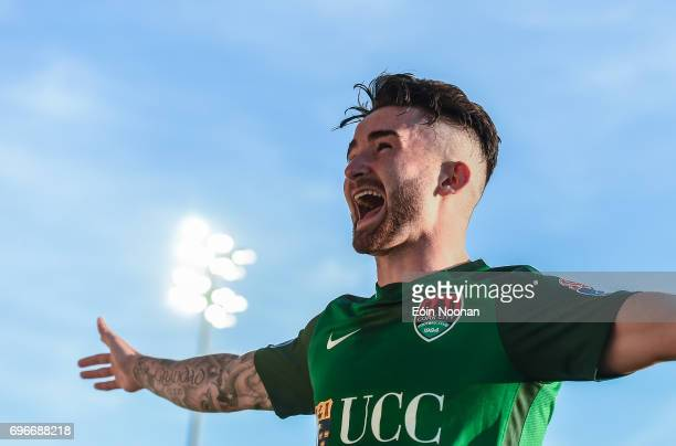 Cork Ireland 16 June 2017 Sean Maguire of Cork City celebrates after scoring his side's third goal during the SSE Airtricity League Premier Division...