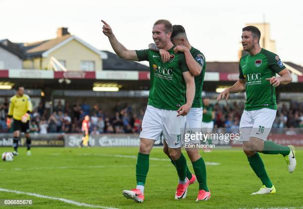 Cork Ireland 16 June 2017 Stephen Dooley of Cork City celebrates after scoring his side's second goal during the SSE Airtricity League Premier...