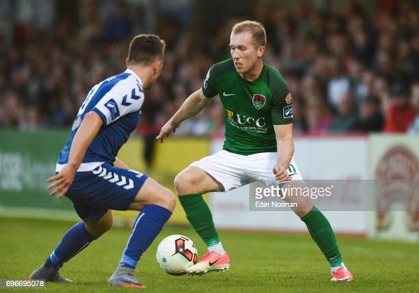 Cork Ireland 16 June 2017 Stephen Dooley of Cork City in action against Dean Clarke of Limerick during the SSE Airtricity League Premier Division...