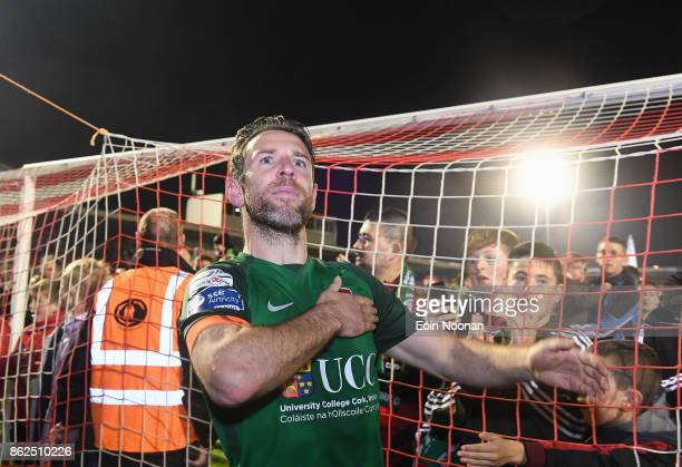 Cork Ireland 17 October 2017 Alan Bennett of Cork City celebrates after the SSE Airtricity League Premier Division match between Cork City and Derry...