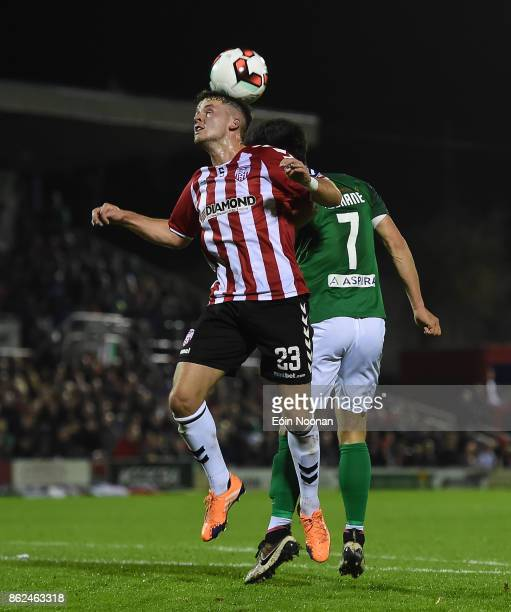 Cork Ireland 17 October 2017 Ben Doherty of Derry City in action against Jimmy Keohane of Cork City during the SSE Airtricity League Premier Division...