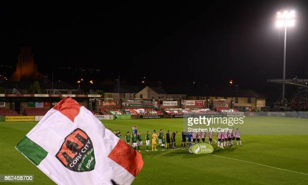 Cork Ireland 17 October 2017 Cork City and Derry City players in front of the Derrynane Stand before the SSE Airtricity League Premier Division match...