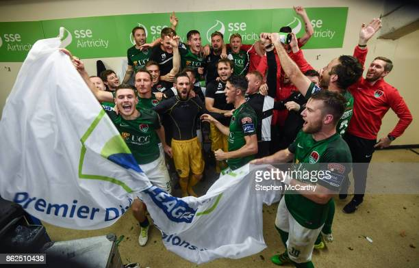 Cork Ireland 17 October 2017 Cork City players celebrate winning the SSE Airtricity League Premier Division after the SSE Airtricity League Premier...