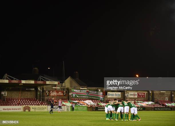 Cork Ireland 17 October 2017 Cork City players huddle in front of the Derrynane Stand before the SSE Airtricity League Premier Division match between...
