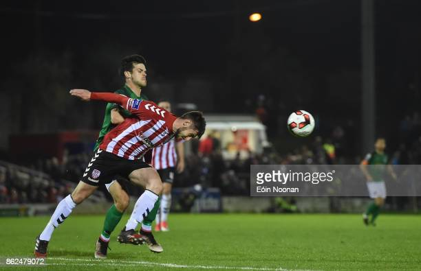 Cork Ireland 17 October 2017 Dean Jarvis of Derry City in action against Jimmy Keohane of Cork City during the SSE Airtricity League Premier Division...