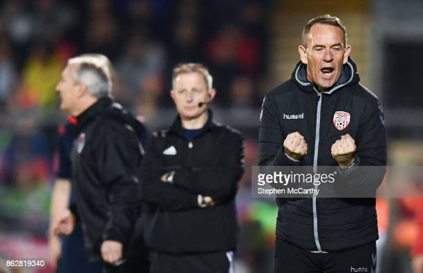 Cork Ireland 17 October 2017 Derry City manager Kenny Shiels during the SSE Airtricity League Premier Division match between Cork City and Derry City...