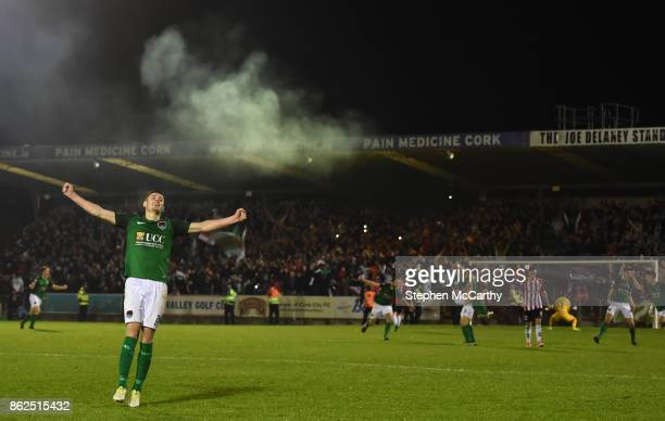 Cork Ireland 17 October 2017 Garry Buckley of Cork City celebrates winning the SSE Airtricity League Premier Division after the match between Cork...