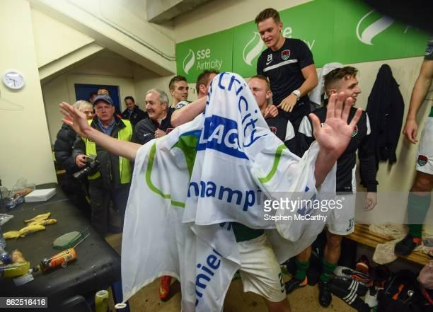 Cork Ireland 17 October 2017 Garry Buckley of Cork City celebrates winning the SSE Airtricity League Premier Division after the SSE Airtricity League...
