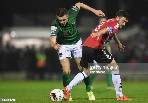 Cork Ireland 17 October 2017 Garry Buckley of Cork City in action against Dean Jarvis of Derry City during the SSE Airtricity League Premier Division...