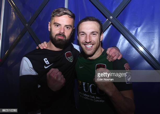 Cork Ireland 17 October 2017 Greg Bolger left and Karl Sheppard of Cork City celebrate after the SSE Airtricity League Premier Division match between...
