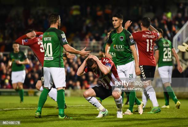 Cork Ireland 17 October 2017 Harry Monaghan of Derry City reacts after a missed opportunity on goal during the SSE Airtricity League Premier Division...