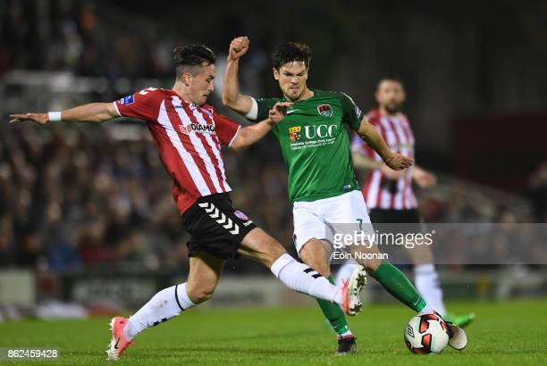 Cork Ireland 17 October 2017 Jimmy Keohane of Cork City in action against Aaron McEneff of Derry City during the SSE Airtricity League Premier...