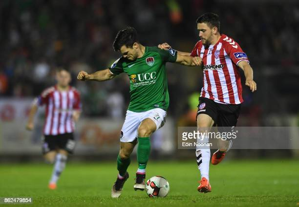 Cork Ireland 17 October 2017 Jimmy Keohane of Cork City in action against Dean Jarvis of Derry City during the SSE Airtricity League Premier Division...