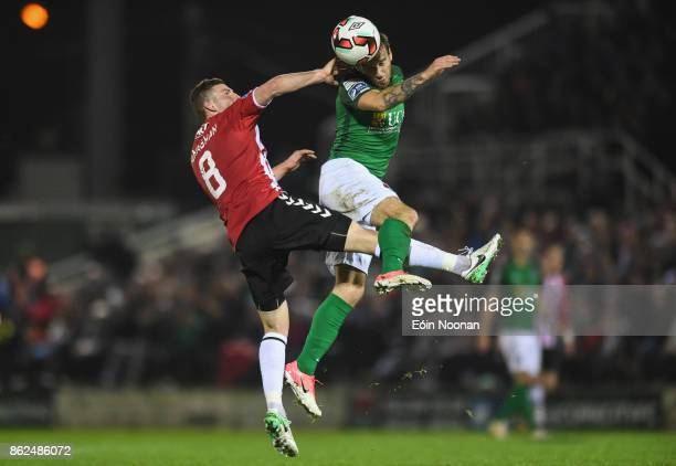 Cork Ireland 17 October 2017 Karl Sheppard of Cork City in action against Harry Monaghan of Derry City during the SSE Airtricity League Premier...