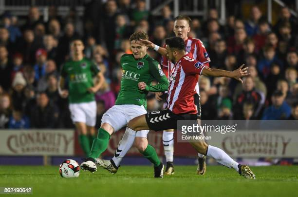 Cork Ireland 17 October 2017 Kieran Sadlier of Cork City in action against Darren Cole of Derry City during the SSE Airtricity League Premier...