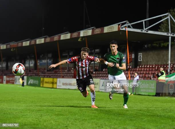 Cork Ireland 17 October 2017 Shane Griffin of Cork City in action against Ben Doherty of Derry City during the SSE Airtricity League Premier Division...