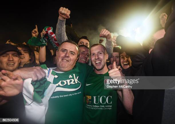 Cork Ireland 17 October 2017 Stephen Dooley of Cork City and supporters celebrate winning the SSE Airtricity League Premier Division after the SSE...