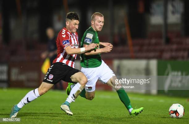 Cork Ireland 17 October 2017 Stephen Dooley of Cork City in action against Connor McDermott of Derry City during the SSE Airtricity League Premier...