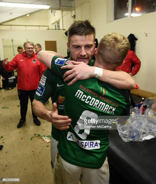 Cork Ireland 17 October 2017 Steven Beattie and Conor McCormack of Cork City celebrate winning the SSE Airtricity League Premier Division after the...