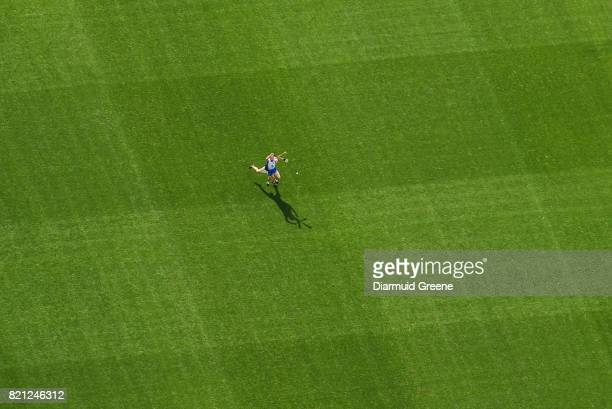 Cork Ireland 23 July 2017 An aerial view of Páirc Ui Chaoimh as Michael Walsh of Waterford battles for possession with Willie Devereux of Wexford...