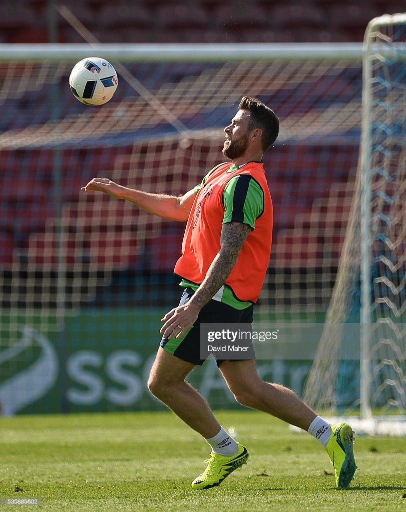 Cork , Ireland - 30 May 2016; Daryl Murphy of Republic of Ireland during squad training in Turners Cross, Cork.