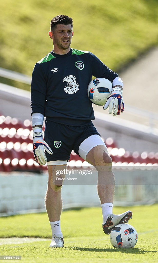Cork , Ireland - 30 May 2016; Keiren Westwood of Republic of Ireland during squad training in Turners Cross, Cork.