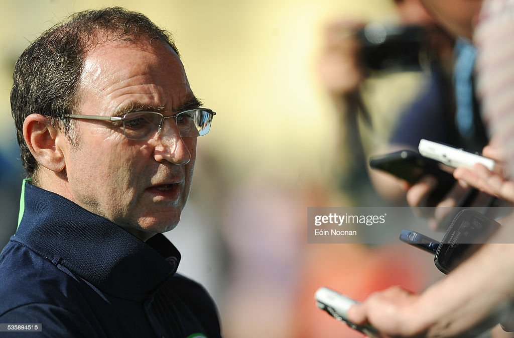 Cork , Ireland - 30 May 2016; Republic of Ireland manager <a gi-track='captionPersonalityLinkClicked' href=/galleries/search?phrase=Martin+O%27Neill&family=editorial&specificpeople=201190 ng-click='$event.stopPropagation()'>Martin O'Neill</a> speaking to members of the press after squad training in Turners Cross, Cork.