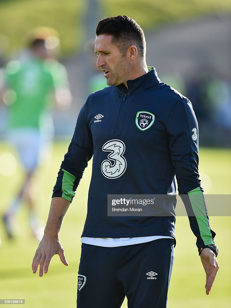 Cork , Ireland - 31 May 2016; <a gi-track='captionPersonalityLinkClicked' href=/galleries/search?phrase=Robbie+Keane&family=editorial&specificpeople=171824 ng-click='$event.stopPropagation()'>Robbie Keane</a> of Republic of Ireland before the EURO2016 Warm-up International between Republic of Ireland and Belarus in Turners Cross, Cork.