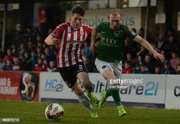 Cork Ireland 7 April 2017 Stephen Dooley of Cork City in action against Connor McDermott of Derry City during the SSE Airtricity League Premier...