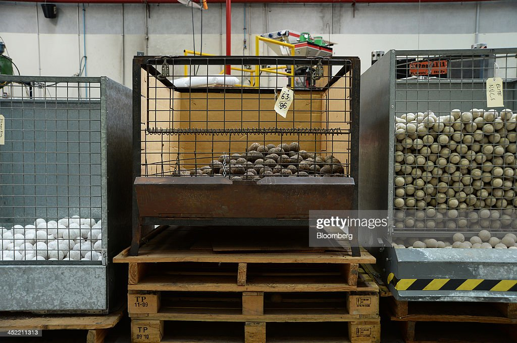 Cork-and-rubber inner cores of cricket balls sit in crates at the Kookaburra Sports Pty Ltd. plant in Melbourne, Australia, on Tuesday, Nov. 26, 2013. Australian businesses need to boost efficiency to maintain growth in living standards, Reserve Bank of Australia Deputy Governor Philip Lowe said. Photographer: Carla Gottgens/Bloomberg via Getty Images