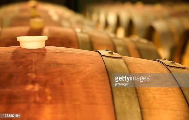 Corked oak Weinfässern Gären.