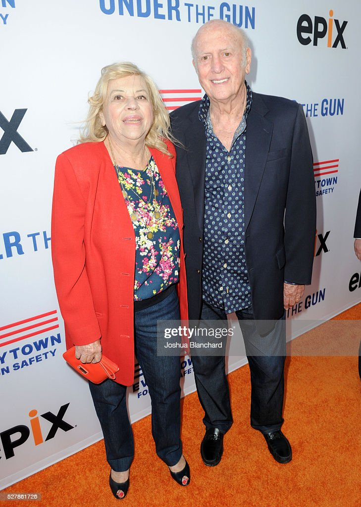 Corky Hale and Mike Stoller attend the 'Under The Gun' LA premiere featuring Katie Couric and Stephanie Soechtig at Samuel Goldwyn Theater on May 3...