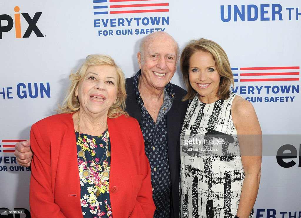 Corky Hale Mike Stoller and journalist/executive producer Katie Couric attend the 'Under The Gun' LA premiere featuring Katie Couric and Stephanie...