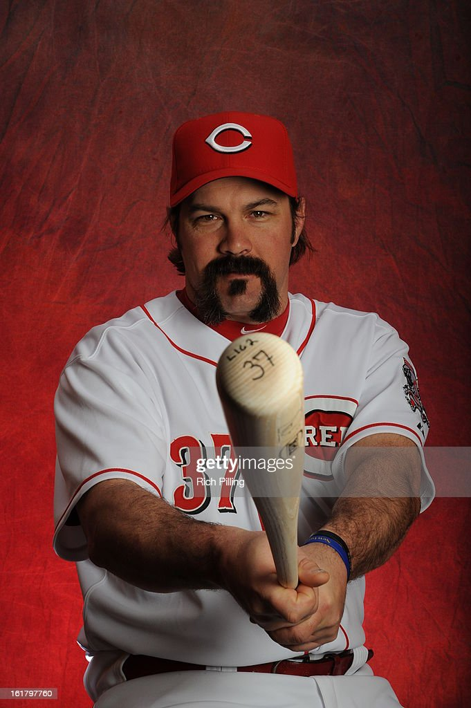 <a gi-track='captionPersonalityLinkClicked' href=/galleries/search?phrase=Corky+Miller&family=editorial&specificpeople=224796 ng-click='$event.stopPropagation()'>Corky Miller</a> #37 of the Cincinnati Reds poses during MLB photo day on February 16, 2013 at the Goodyear Ballpark in Goodyear, Arizona.