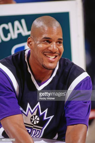 Corliss Williamson of the Sacramento Kings smiles circa 1996 at Arco Arena in Sacramento California NOTE TO USER User expressly acknowledges and...