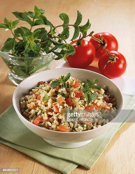 Corn and mint rice salad