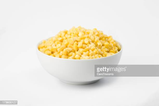 Corn in white bowl