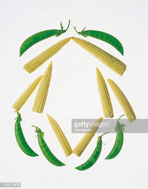 corn, rim, bean, green, yellow, frame