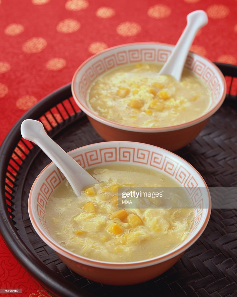 Corn Soup : Stock Photo