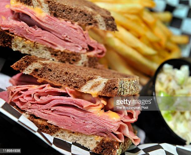 A corned beef sandwich with russian dressing served at the Pita amp Rye in the Maple Lawn Marketplace on July 08 2011 in Fulton MdThe New York style...